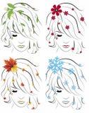 The four seasons. Illustration background royalty free illustration