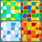 Four seasons (4 seamless patterns) Royalty Free Stock Photography