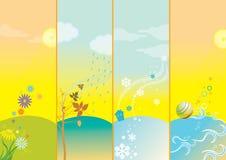 Four seasons. Stock Photos
