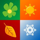 Four seasons Royalty Free Stock Photo