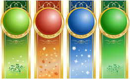 Four seasons. Backdrop in four color. Four seasons Stock Photography