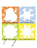 Four Seasons. Illustration of Four Seasons Icons. vector image Royalty Free Stock Photography