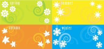 Four Seasons. Illustration of Four Seasons Icons. vector image royalty free illustration