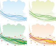 Four seasons abstract backgrounds. Multicolor vector illustration Royalty Free Stock Photography