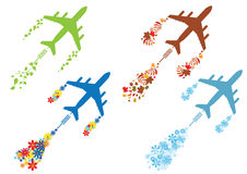 Free Four Seasons And Airoplane Stock Image - 68565461