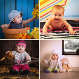 Four seasons baby calendar Royalty Free Stock Photography