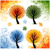 Four seasons background. Illustration design Royalty Free Stock Photo