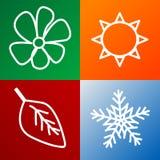 Four seasons background Stock Photo