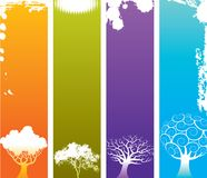 Four Seasons background Stock Image