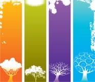 Four Seasons background royalty free illustration