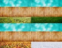 Four seasons backyard Stock Images