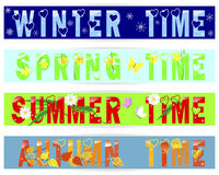 Four seasons-banners. Stock Image