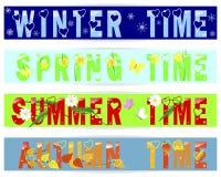Four seasons-banners. Stock Image
