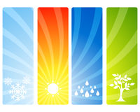 Four seasons banners Royalty Free Stock Image