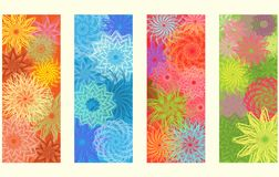 Four seasons banners, vector Stock Photo