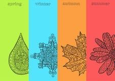 Four seasons. Beautiful vector design stock illustration