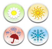 The four seasons buttons Royalty Free Stock Photos