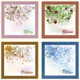 Four seasons card Stock Photo