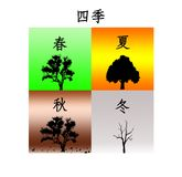 Four Seasons - Chinese Illustration Royalty Free Stock Images