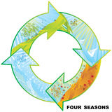 Four seasons circle Stock Photography