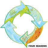 Four seasons circle vector illustration