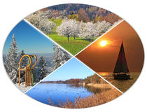 Four seasons circle 8 Stock Photography