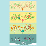 Four seasons color vector illustration. Four seasons color design vector illustration Royalty Free Stock Images