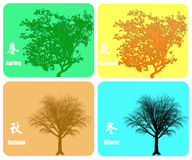 Four seasons colorful background Royalty Free Stock Photo