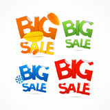 Four Seasons Colorful Big Sale Titles Royalty Free Stock Photo