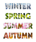 Four seasons colors Royalty Free Stock Image