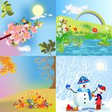 Four seasons Royalty Free Stock Photography