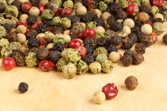 Four seasons dried peppercorns Royalty Free Stock Photo