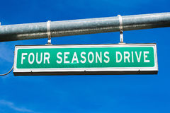 Four Seasons Drive Stock Photography