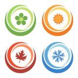 Four seasons elements. Four seasons symbols concept, vector illustration Stock Photography