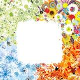 Four seasons frame Royalty Free Stock Photo
