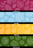 Four seasons horizontal banners Royalty Free Stock Photos