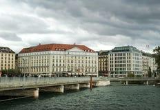 Four Seasons Hotel des Bergues, Geneva Stock Photos