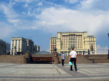 Four Seasons hotel and Manege Square in Moscow. Stock Photos
