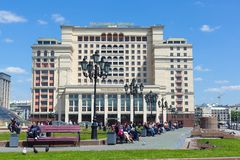 Four Seasons Hotel Moscow building on Manezh Square in Moscow Royalty Free Stock Photography