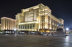 Four Seasons Hotel Moscow in Manege Square. Moscow, Russia Stock Image