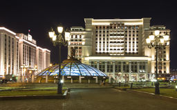 Four Seasons Hotel Moscow in Manege Square. Moscow, Russia Royalty Free Stock Images