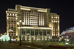 Four Seasons Hotel Moscow in Manege Square. Moscow, Russia Royalty Free Stock Photos