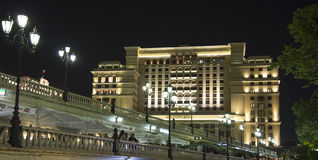 Four Seasons Hotel Moscow in Manege Square. Moscow, Russia Stock Images