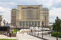 Four Seasons Hotel Moscow, 2, Okhotny Ryad, Moscow, Russia. June 02, 2016. Historical building, built during the reign of Stalin, as the hotel Moscow. After a stock image