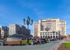 Four Seasons Hotel Moscow and State Duma building Stock Photography