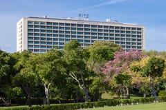 The Four Seasons Hotel Ritz. Lisbon, Portugal - October 19, 2016: The Four Seasons Hotel Ritz. A five star hotel located next to the famous Eduardo VII Park stock photo