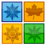 Four Seasons Icon Royalty Free Stock Image