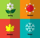 Four seasons icon set. Four seasons icon symbol vector Stock Images