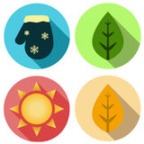 Four seasons icon symbol  illustration. Weather forecast Stock Image