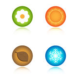 Four seasons icons royalty free illustration